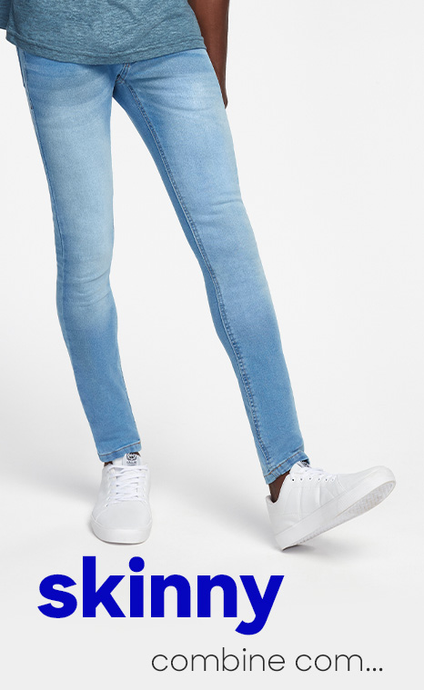 skinny para looks modernos - combine com...
