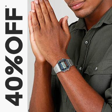 relógios com até 40%OFF*