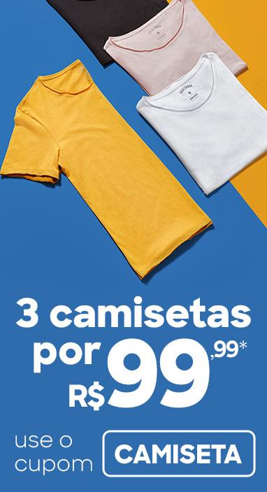 DDP - Combo 3 camisetas por R$99,99*
