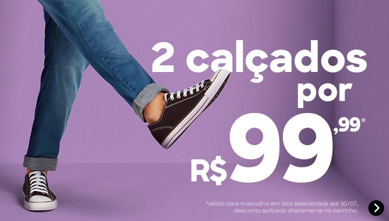 DDP- 2 calçados por R$99,99*